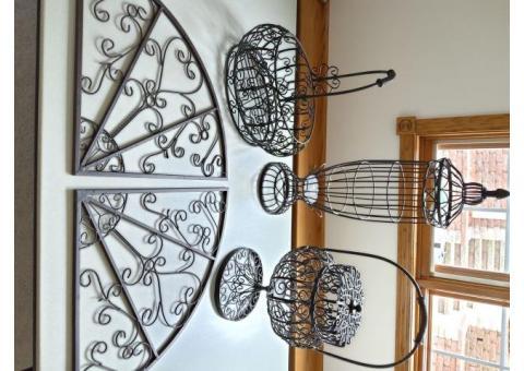 Wrought iron decor